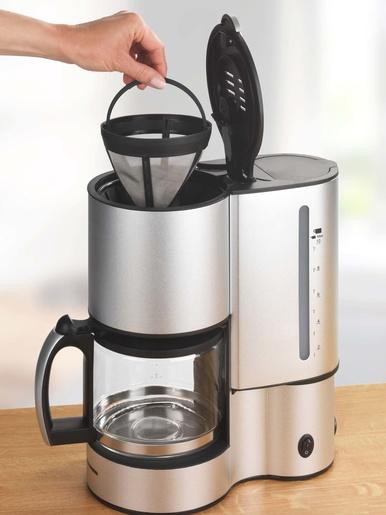 Filtre à café permanent avec poignée - Wenko - Gris
