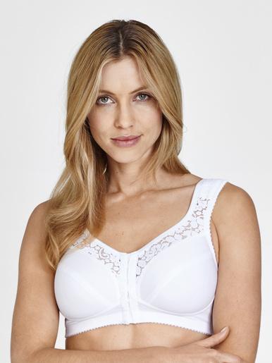 Soutien-gorge agrafé devant, sans armatu - Miss Mary of Sweden - Blanc