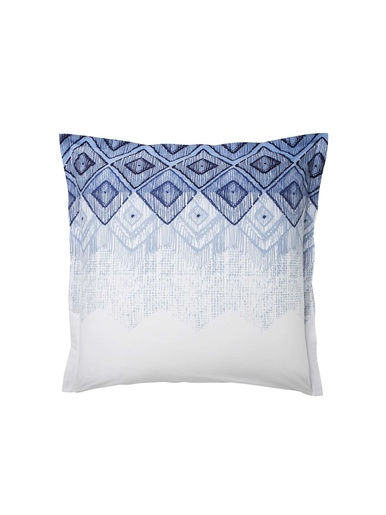 Taie d'oreiller Malo, coton et lyocell - Origin - Bleu