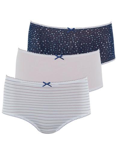 Lot de 2 culottes maxi Secret by ATHENA® - Athéna - Imp. marine + rayé bleu + blanc