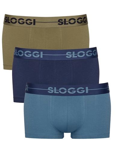 Lot de 2 caleçons Go H Hipster - Sloggi - 1 bleu clair + 1 bleu foncé
