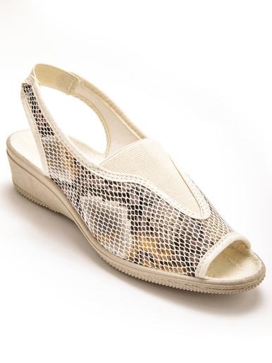 Sandales à élastique, maille extensible - Charmance - Beige