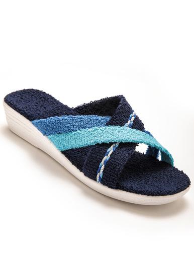 Mules en éponge - Charmance - Bleu