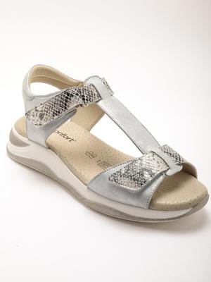 Sandales cuir, à ouverture totale