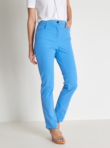 Jean 5 poches, spécial ventre rond - Balsamik - Bleu