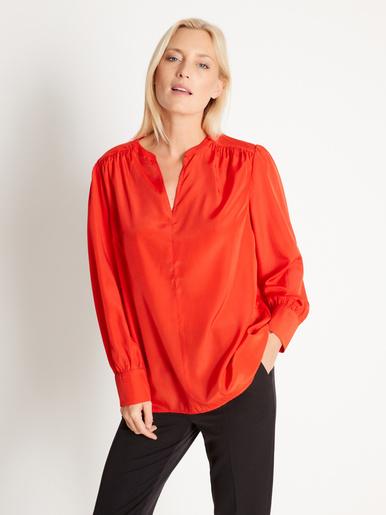 Blouse ample, manches longues - Balsamik - Orange
