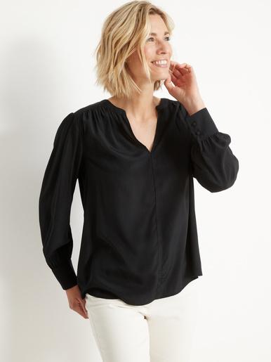 Blouse ample, manches longues - Balsamik - Noir