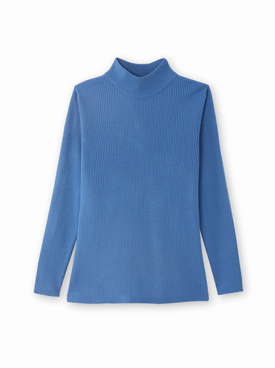 Pull chaussette, col montant - Kocoon - Bleu