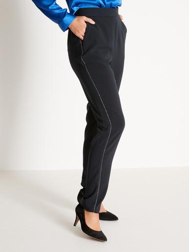 Pantalon chic, coupe fluide - Balsamik - Noir