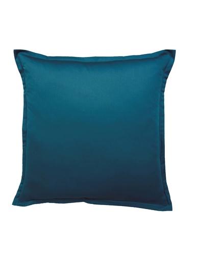 Taies d'oreiller et de traversin unies - Becquet - Bleu pétrole