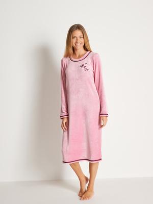 Chemise de nuit en maille peluche
