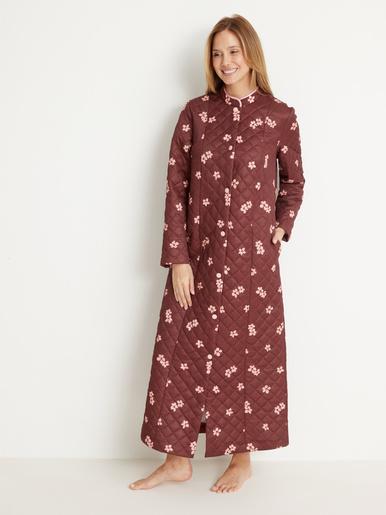 Robe de chambre matelassée - Lingerelle - Imprimé chocolat