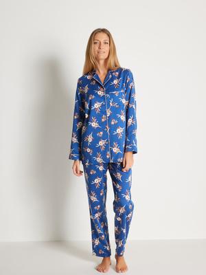 Pyjama satiné, intérieur doux