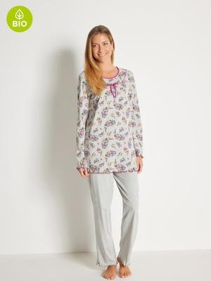 Pyjama en maille pur coton bio