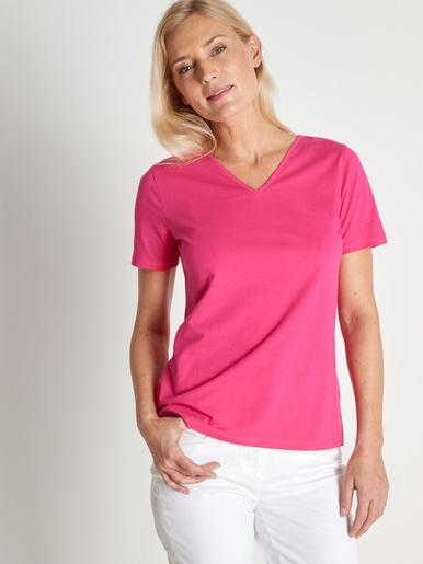 Lot de 2 tee-shirts, manches courtes - Kocoon - Fuchsia + blanc