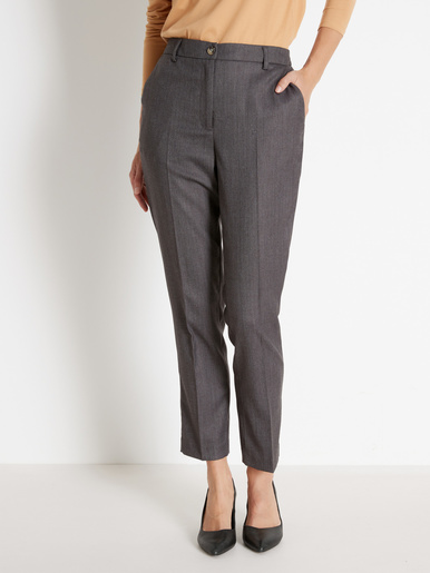 Pantalon must-have, 7/8ème - Balsamik - Chevrons gris