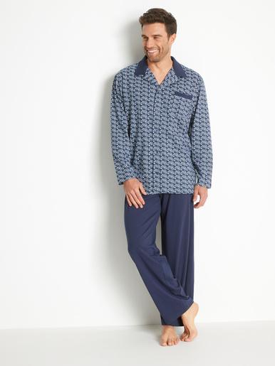 Pyjama en maille pur coton - Honcelac - Imprimé bleu