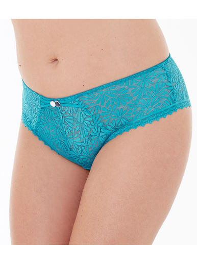 Shorty Check-in, dentelle florale - Pommpoire - Turquoise