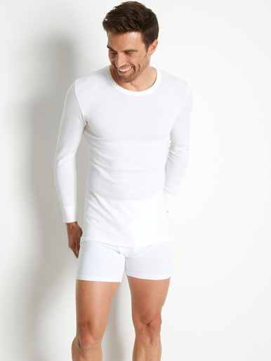 Lot de 2 maillots de corps coton/laine - Honcelac - Blanc