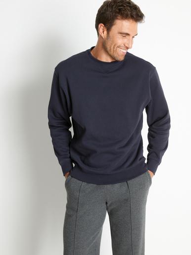 Sweat-shirt molletonné - Honcelac - Marine