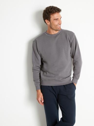 Sweat-shirt molletonné - Honcelac - Gris