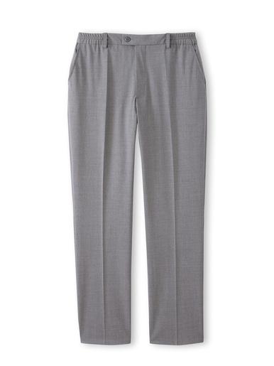 Pantalon ville élastiqué, 43% laine - Honcelac - Gris