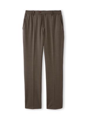 Pantalon ville élastiqué, 43% laine