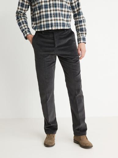 Pantalon en velours 300 raies, élastiqué - Honcelac - Gris