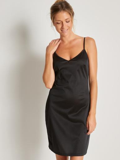 Fond de robe à fines bretelles - Lingerelle - Noir