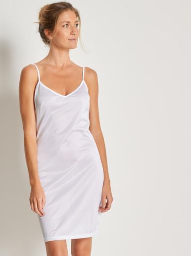Fond de robe à fines bretelles - Lingerelle - Blanc