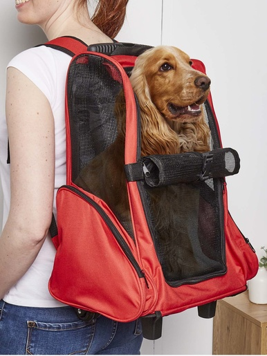 Trolley pour animaux -  - Rouge