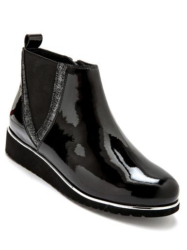 Boots cuir zippées à aérosemelle® - Pédiconfort - Noir