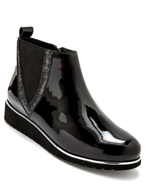 Boots cuir zippées à aérosemelle®
