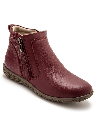 Boots détails pailletés, élastiqués - Pédiconfort - Bordeaux