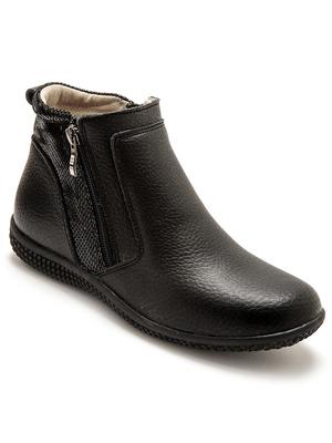 Boots détails pailletés, élastiqués