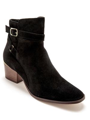 Boots cuir zippées à aérosemelle®.