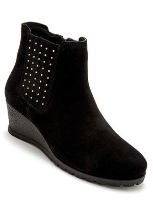 Boots zip et élastique grande largeur