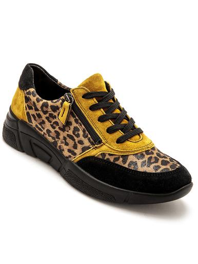 Derbies à zip et aérosemelle® amovible - Pédiconfort - Imprimé léopard