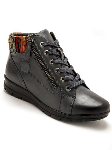 Boots tannage végétal, semelle amovible - Pédiconfort - Bleu grisé