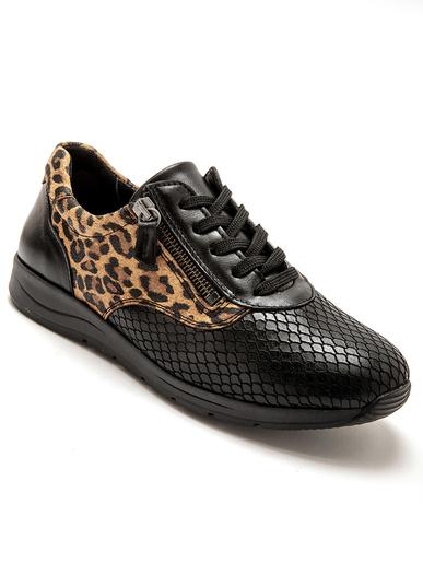 Derbies lacets/zip spécial hallux valgus - Pédiconfort - Imprimé léopard