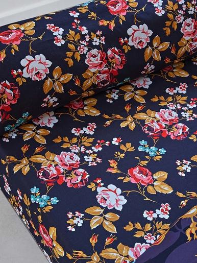 Drap-housse FLEURS CHIC - Becquet - Imprimé fleurs