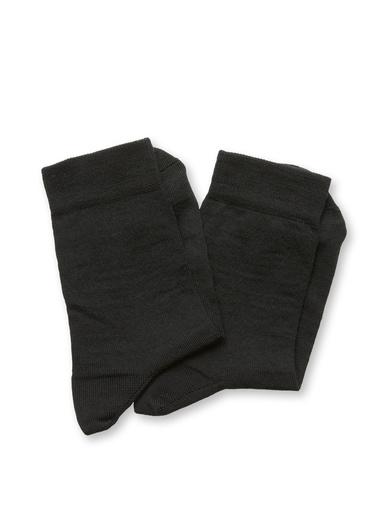 Lot 2 paires de mi-chaussettes 75% coton - Lingerelle - Noir