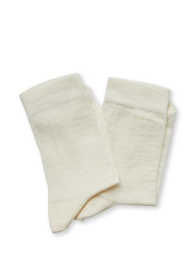 Lot 2 paires de mi-chaussettes 75% coton - Lingerelle - Ecru
