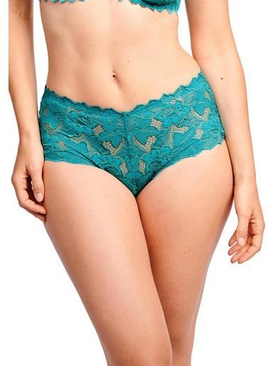 Culotte Arum taille haute - Sans Complexe - Bleu turquoise