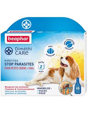 Pipettes anti-parasites chiens - de 15kg