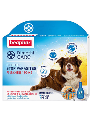 Pipettes anti-parasites chiens 15 à 30kg