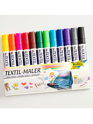 12 marqueurs textile