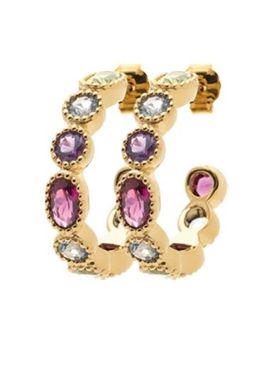 Boucles d'oreilles pierres multicolores