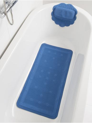 Tapis baignoire antiglisse + repose-tête -  - Marine