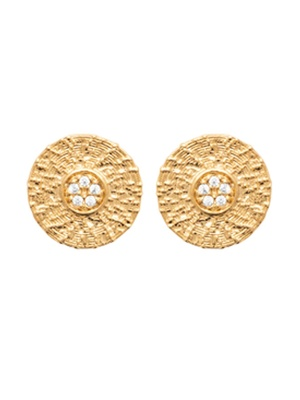 Boucles d'oreilles zirconias plaqué or